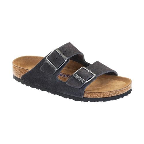 Birkenstock Women's Arizona Soft Footbed Suede Sandals Graysd