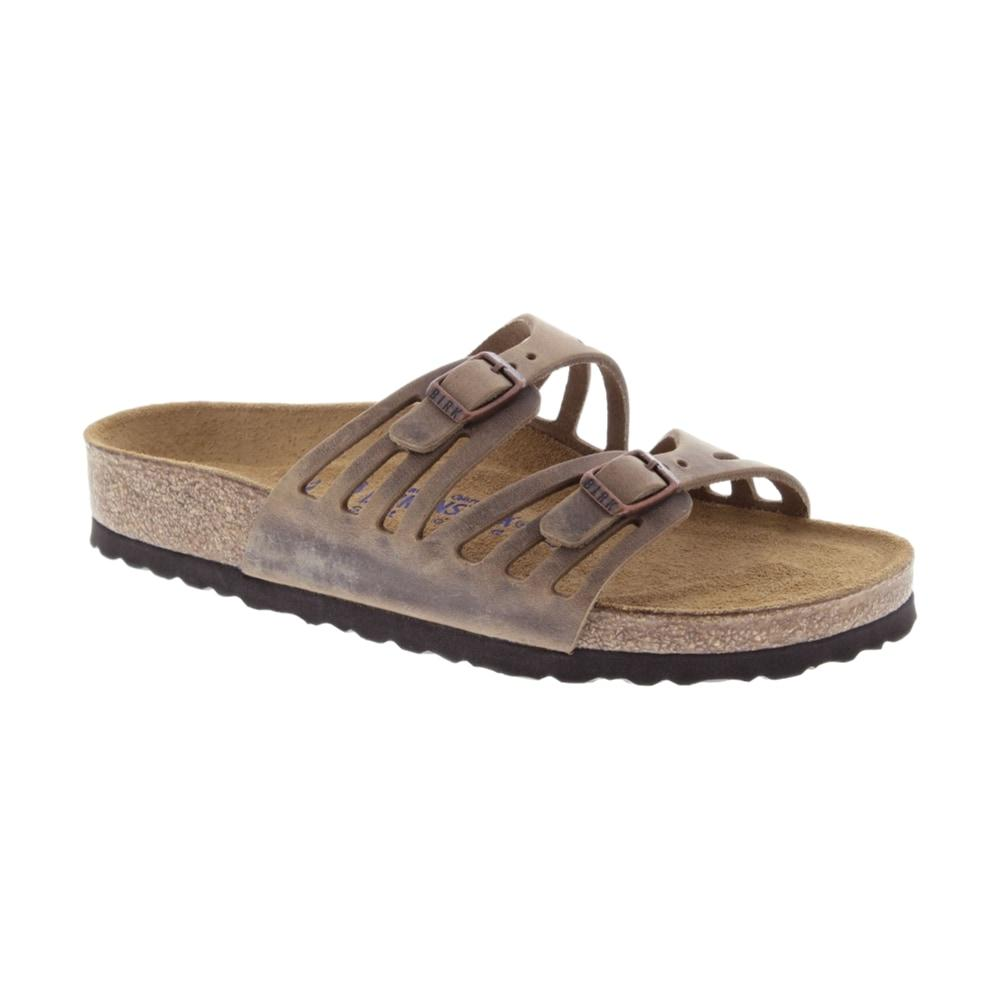 Birkenstock Women's Granada Soft Footbed Oiled Leather Sandals TOBACCO