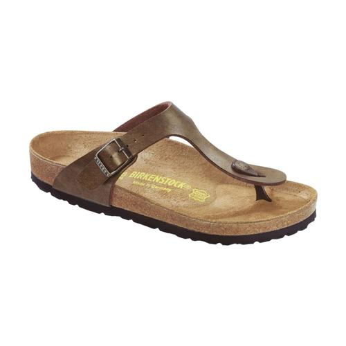 Birkenstock Women's Gizeh Birko-Flor Sandals - Regular Gbrown