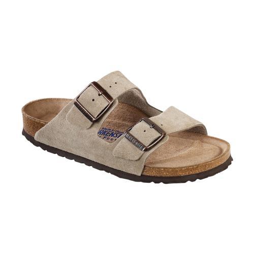 Birkenstock Women's Arizona Soft Footbed Suede Sandals - Regular Taupesd