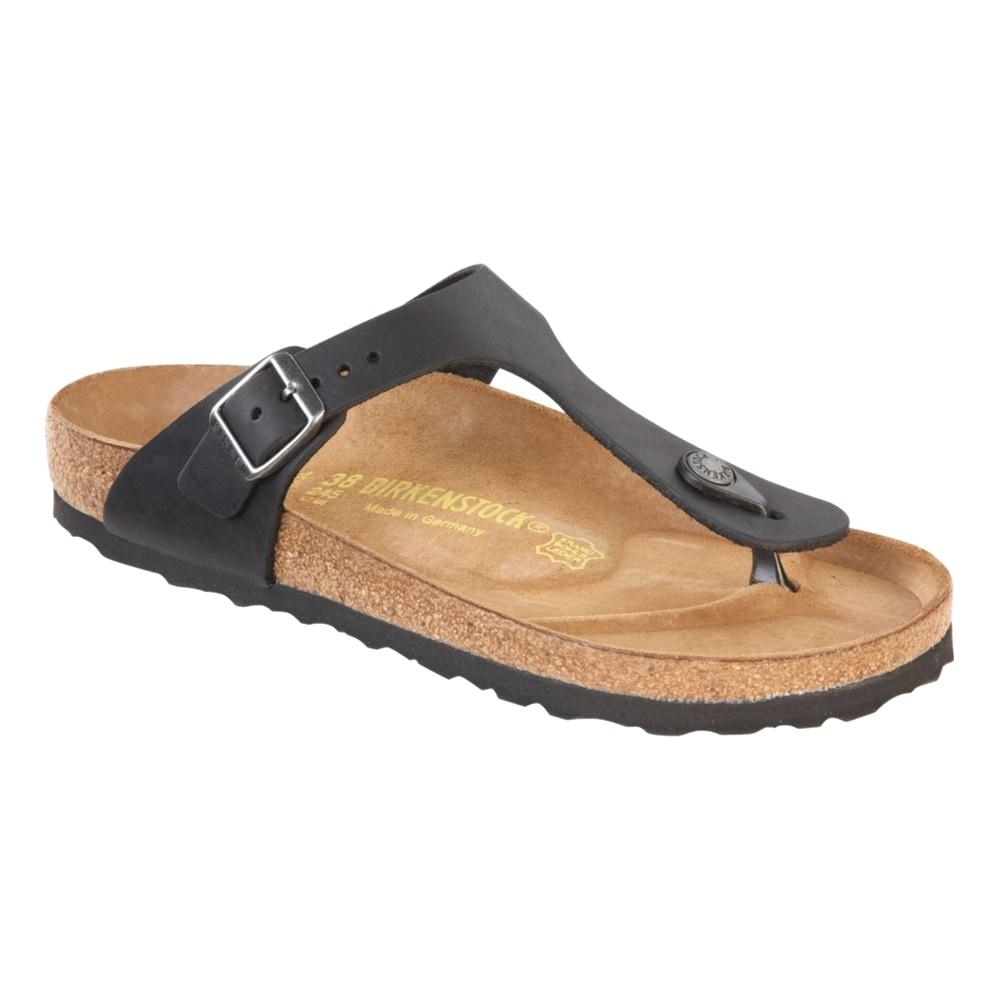 Birkenstock Women's Gizeh Leather Sandals - Regular BLACK