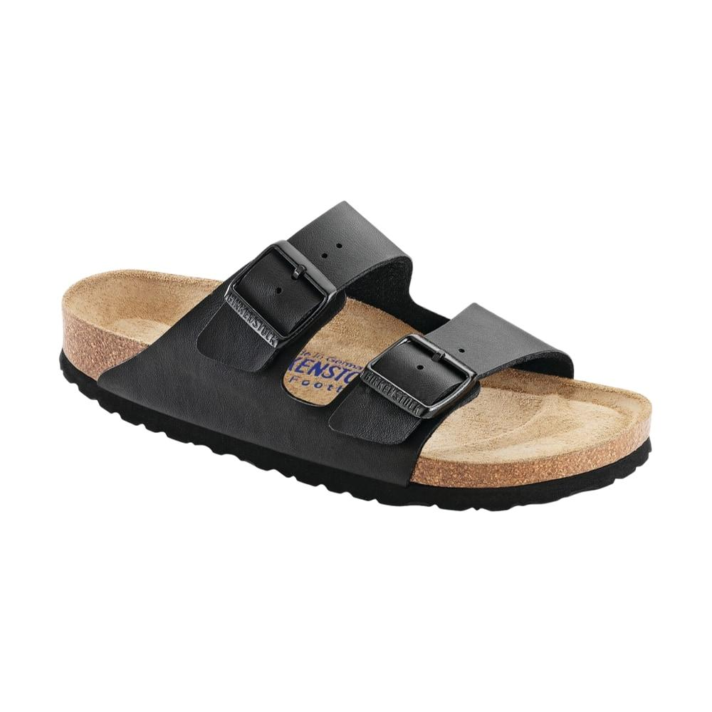 Birkenstock Women's Arizona Soft Footbed Birko-Flor Sandals - Regular BLACK