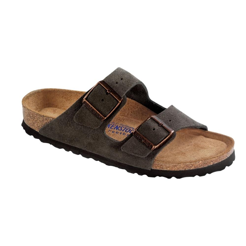 Birkenstock Women's Arizona Soft Footbed Suede Sandals - Regular MOCHA