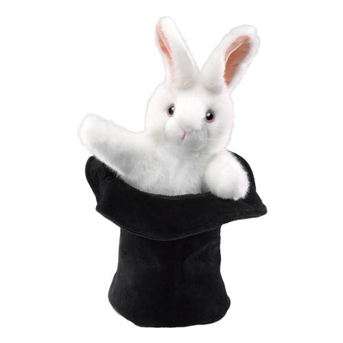 Folkmanis Rabbit In A Hat Hand Puppet