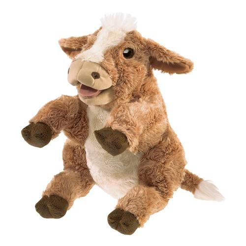 Folkmanis Brown Cow Hand Puppet