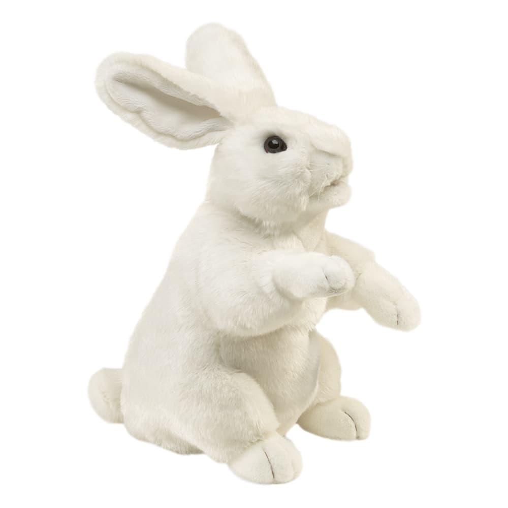 Folkmanis Standing White Rabbit Hand Puppet
