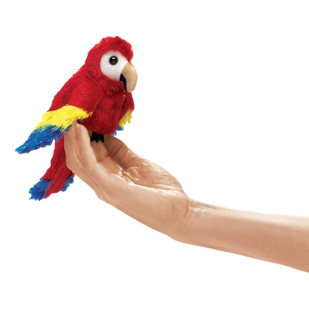 Folkmanis Mini Scarlet Macaw Finger Puppet