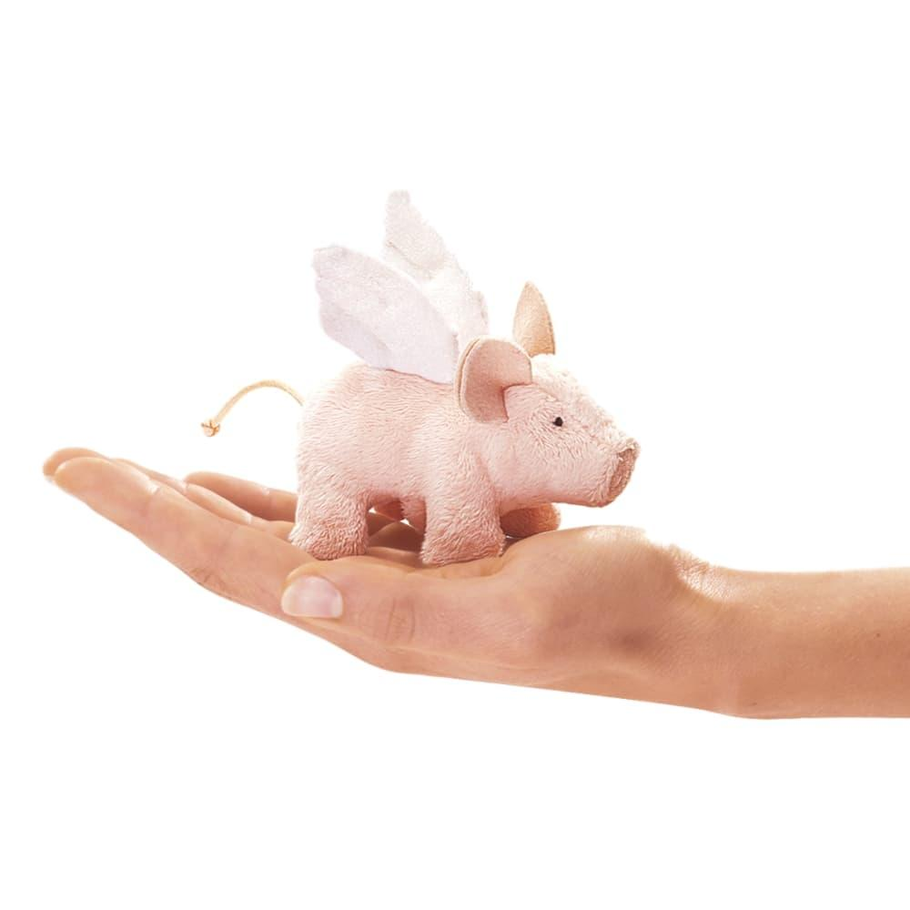 Folkmanis Mini Flying Piglet Finger Puppet