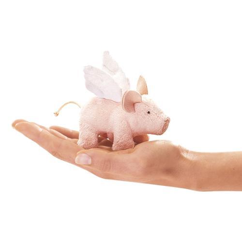 Folkmanis Mini Flying Piglet Finger Puppet
