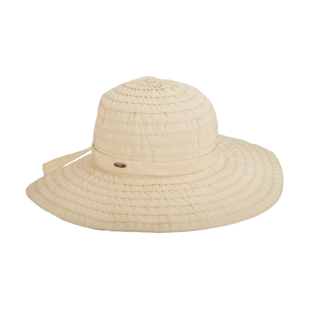 Dorfmam Pacific Women's Ribbon Crusher Hat NATURAL