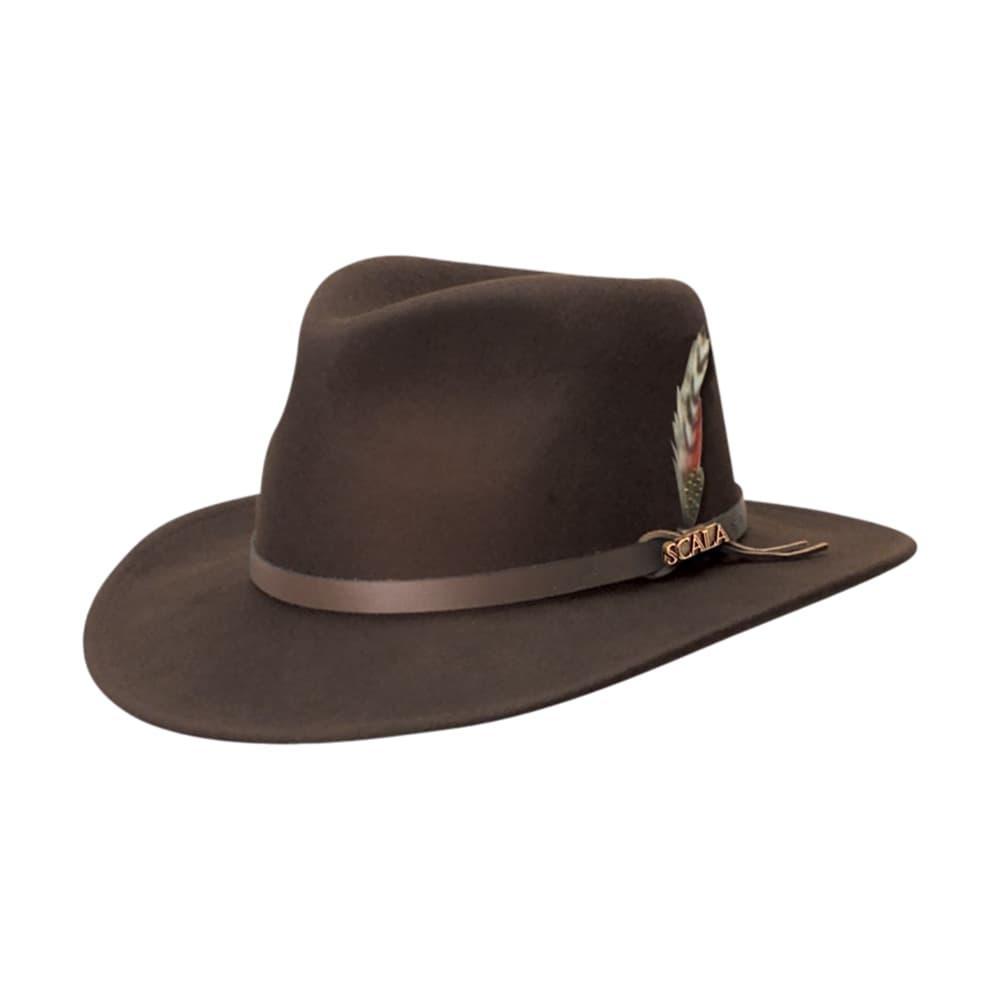 Dorfman Pacific Men's Crushable Outback Hat CHOC