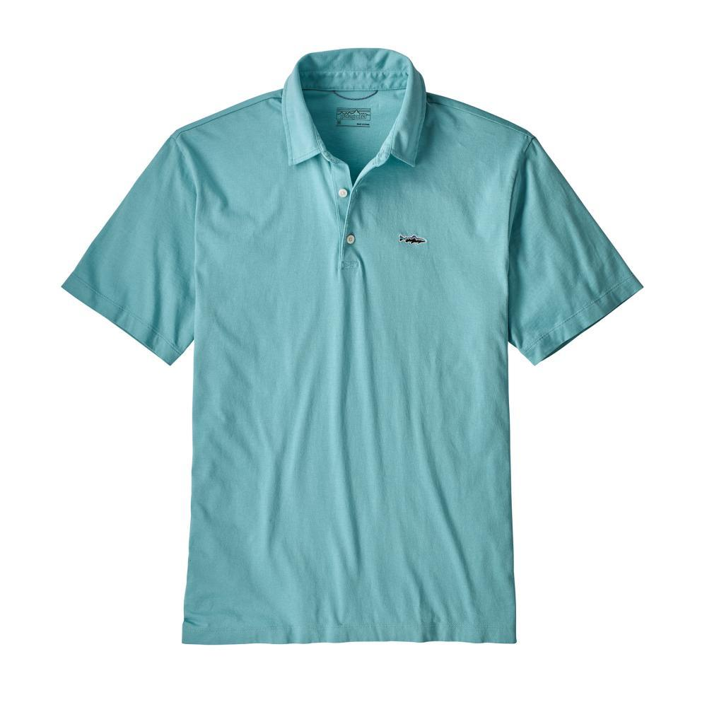 Patagonia Men's Polo Trout Fitz Roy Shirt DABL_BLUE