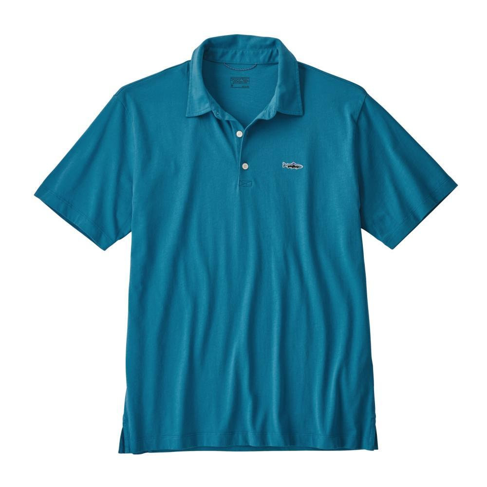 Patagonia Men's Polo Trout Fitz Roy Shirt LIBU_BLUE