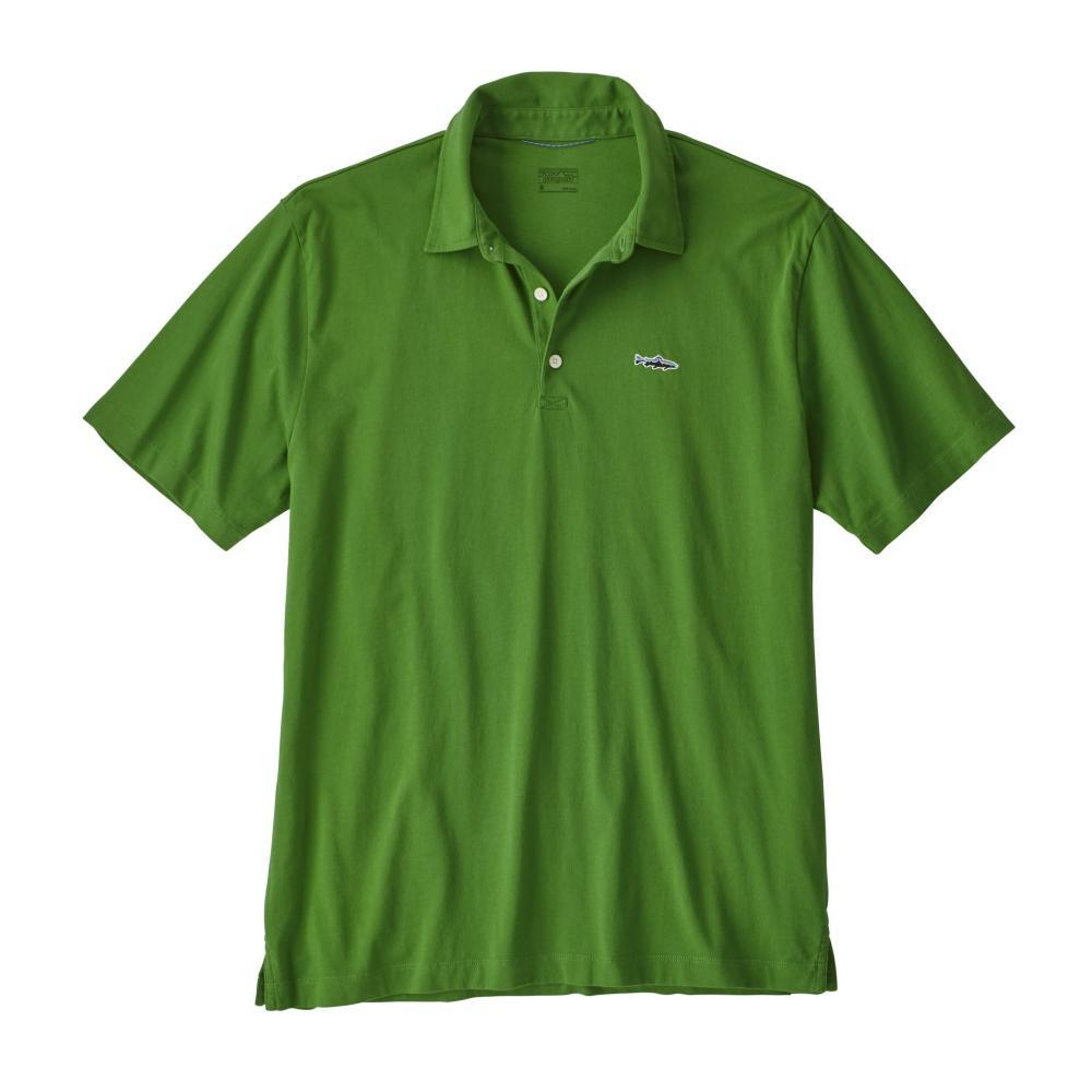 Patagonia Men's Polo Trout Fitz Roy Shirt MYTG_GREEN