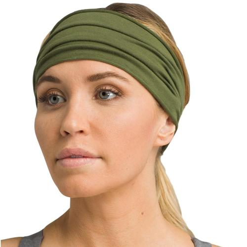 prAna Women's Organic Headband Cargo.Grn