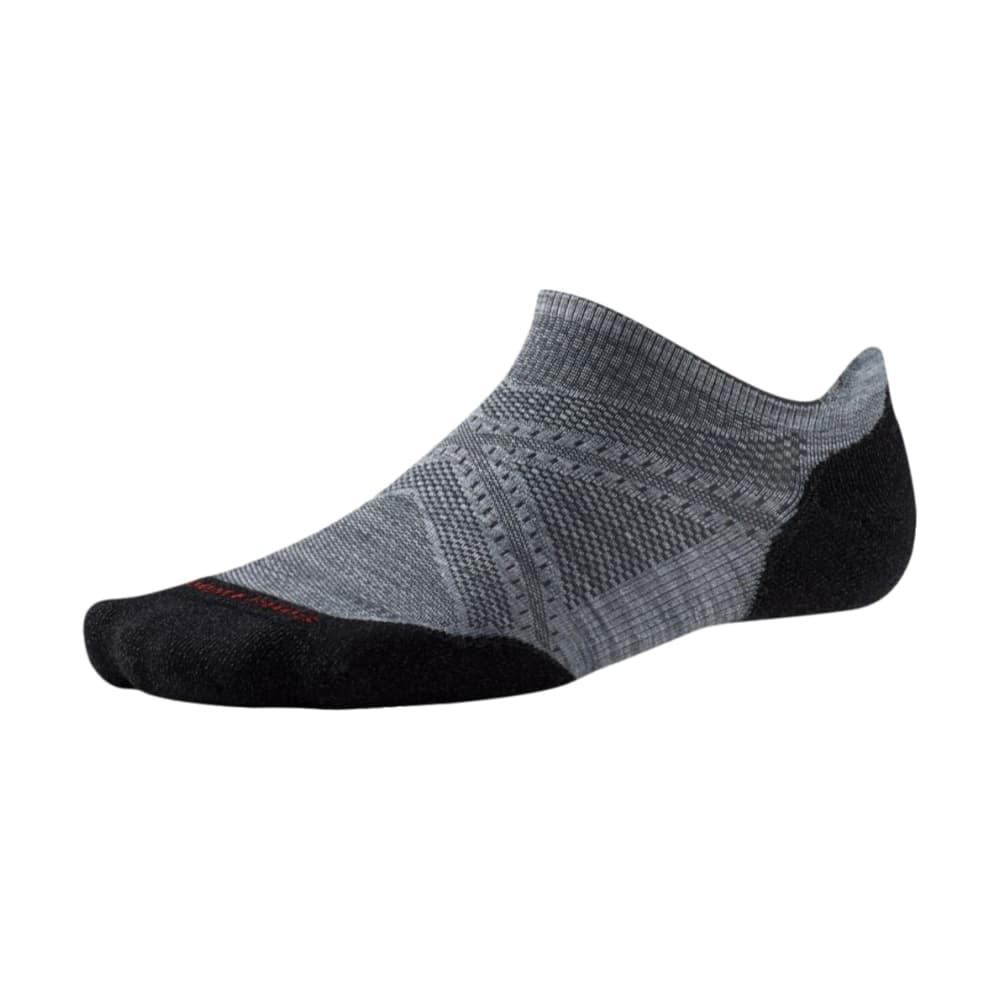 Smartwool Men's PhD Run Light Elite Micro Socks GRAYBLK_026