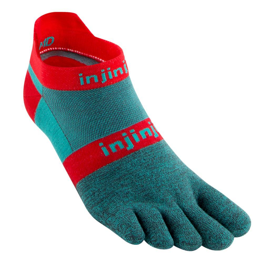 Injinji Unisex Run Lightweight No-Show Socks AQUABERRY
