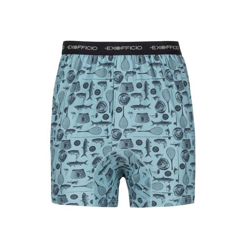 ExOfficio Men's Give-N-Go Printed Boxers Ffish_7010