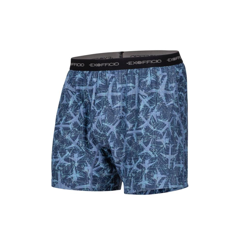 ExOfficio Men's Give-N-Go Printed Boxers NVYPLNS_7318