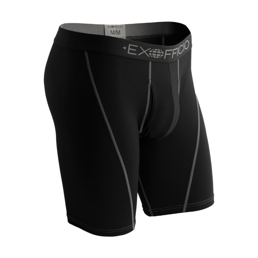 ExOfficio Men's Give-N-Go Sport Mesh 9in Boxer Briefs SOLIDBLK_9995