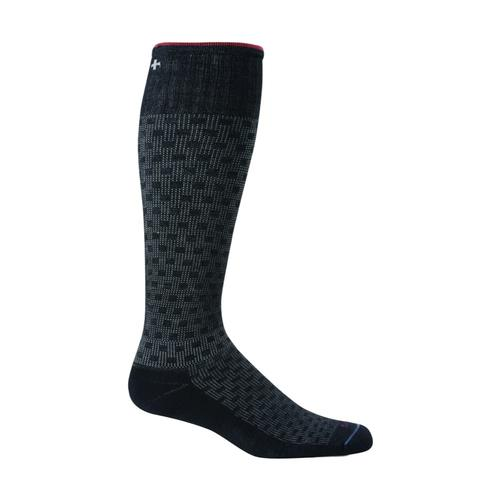 Sockwell Men's Shadow Box Moderate Graduated Compression Socks Black_900