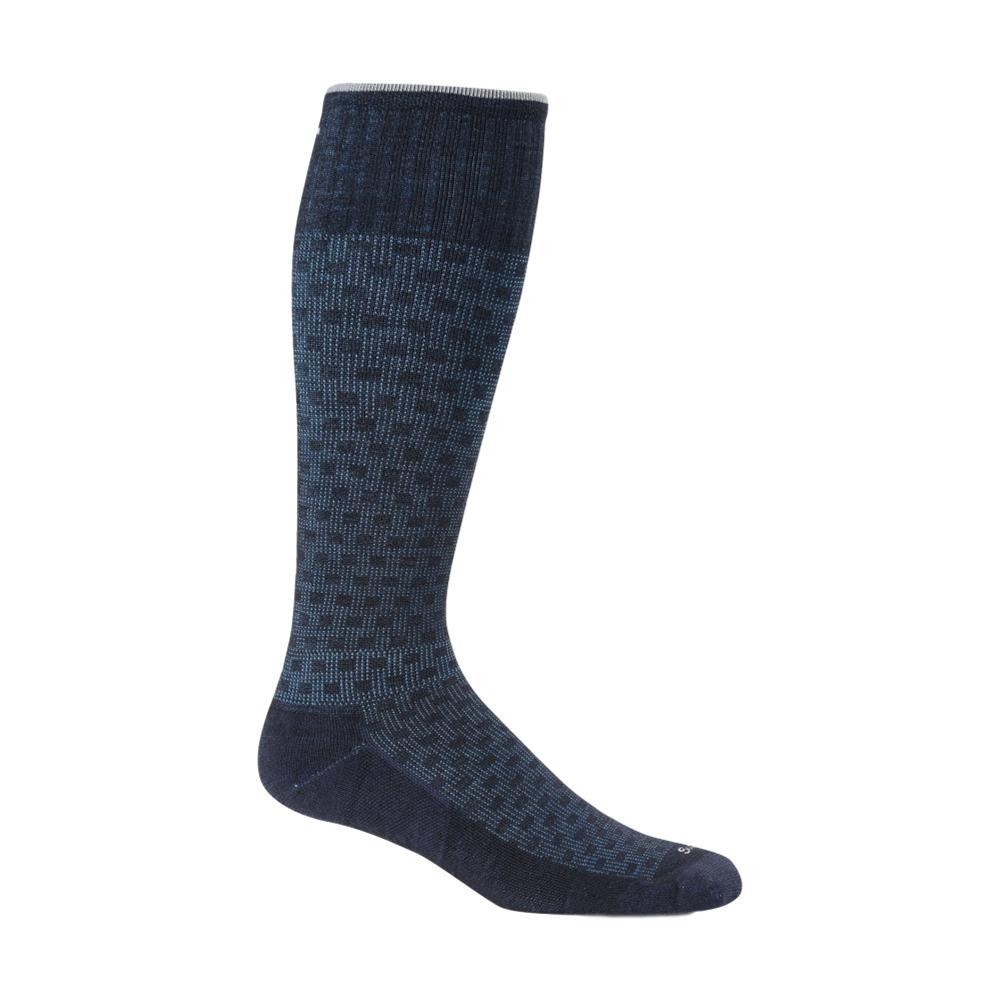 Sockwell Men's Shadow Box Moderate Graduated Compression Socks NAVY_600