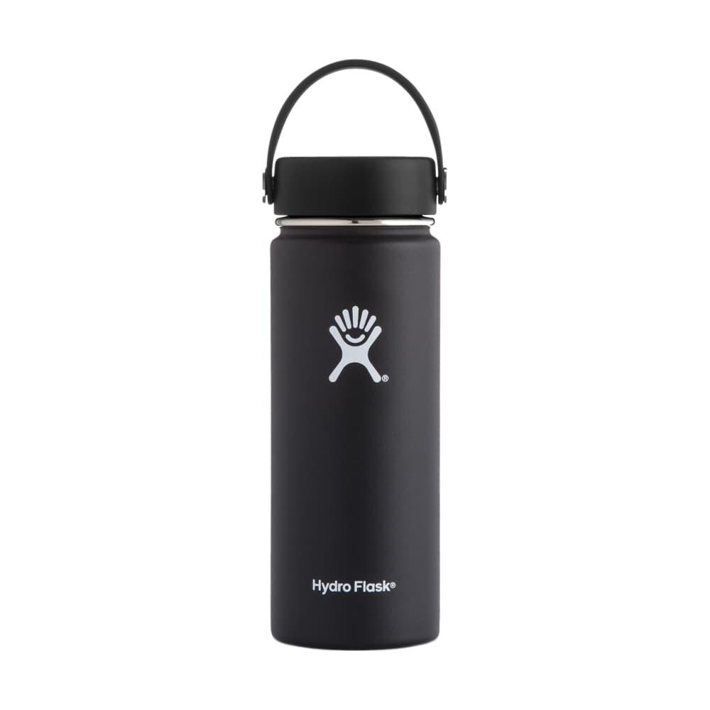 Hydro Flask Wide Mouth 18oz - Flex Cap BLACK
