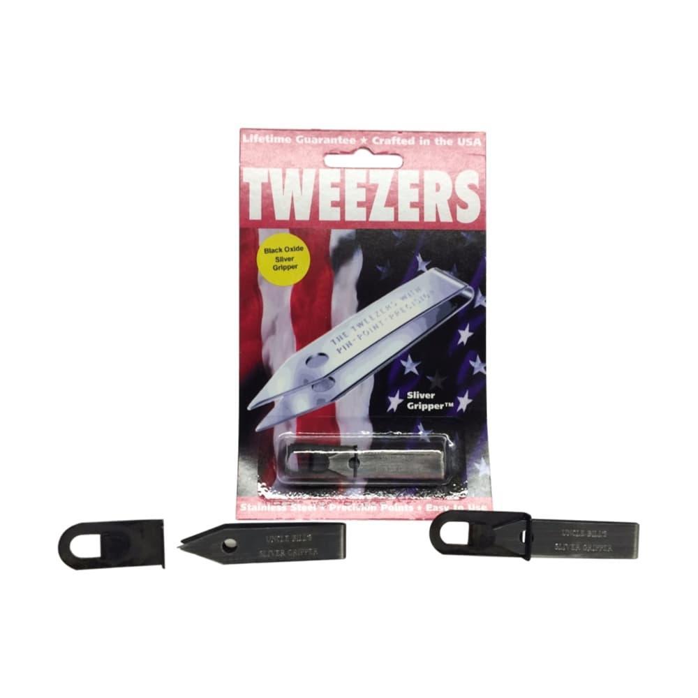 Uncle Bill's Sliver Gripper Tweezers W/CLIP