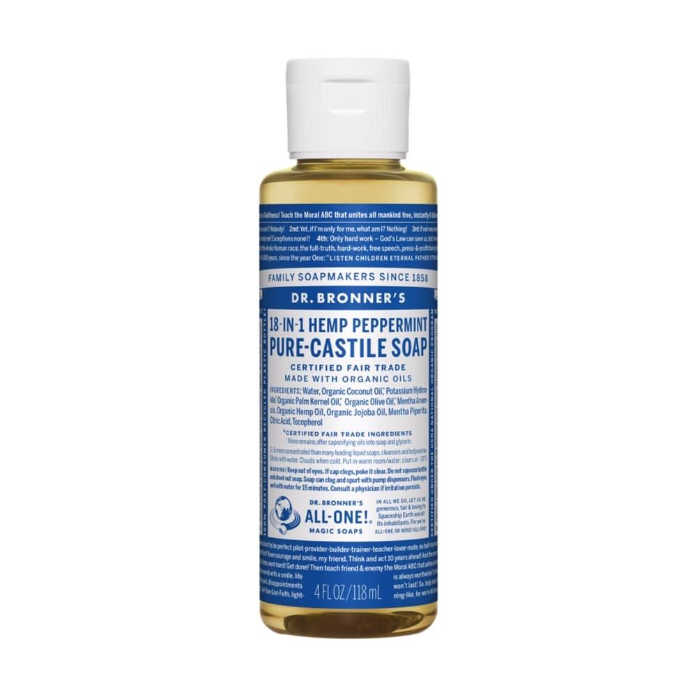 Dr. Bronner's Pure-Castile Liquid Soap Peppermint 4oz PEPPRMNT