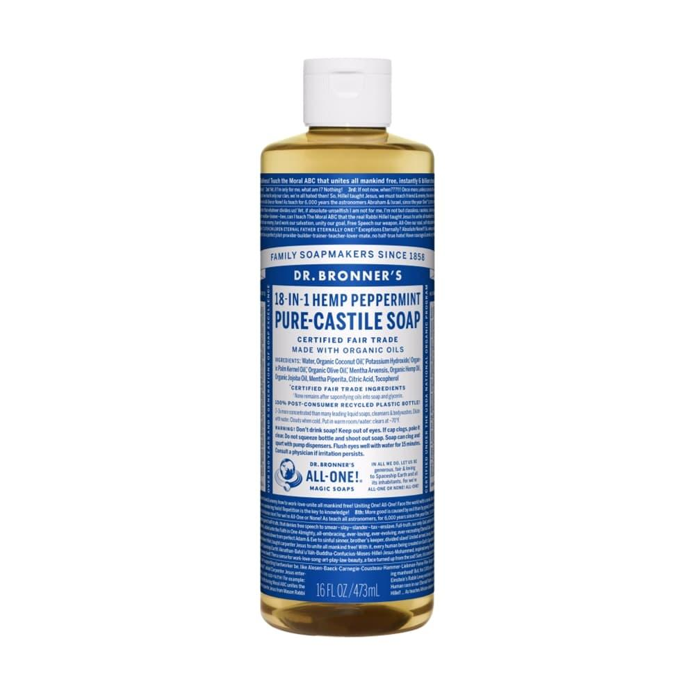 Dr. Bronner's Pure-Castile Liquid Soap Peppermint 16oz PEPPRMNT
