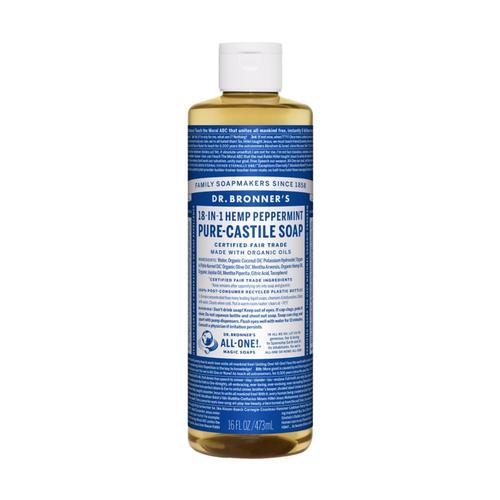 Dr. Bronner's Pure-Castile Liquid Soap Peppermint 16oz Pepprmnt