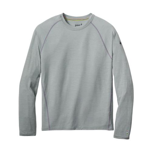 Smartwool Men's Merino 150 Base Layer Micro Stripe Long Sleeve Top Ltgray_039