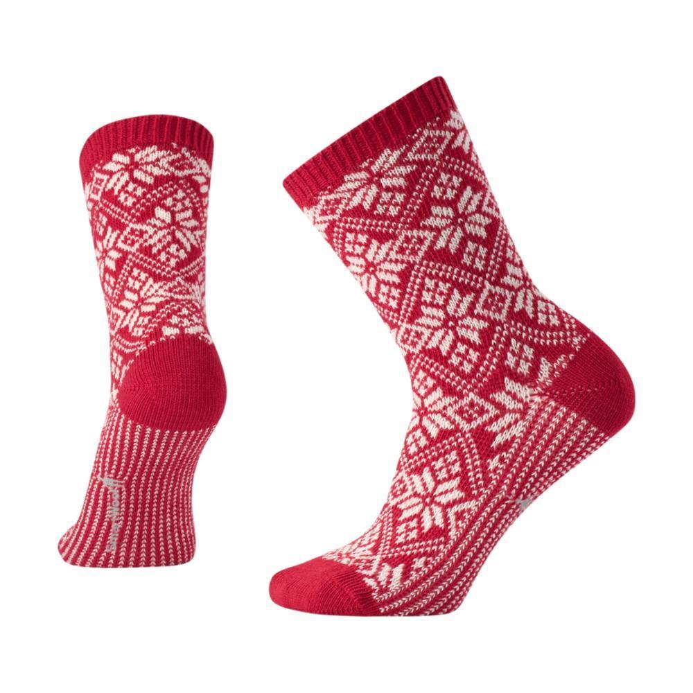 Smartwool Women's Traditional Snowflake Socks CRIMSON_151