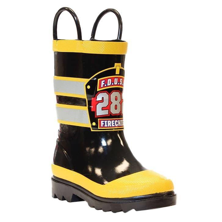 Western Chief Kids F.D.U.S.A. Firechief Rain Boots BLACK