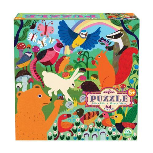 eeBoo Busy Meadow 64 Piece Jigsaw Puzzle