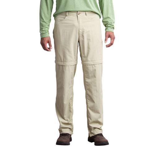 ExOfficio Men's Sol Cool Ampario Convertible Pant - 32in Inseam Ltkhaki