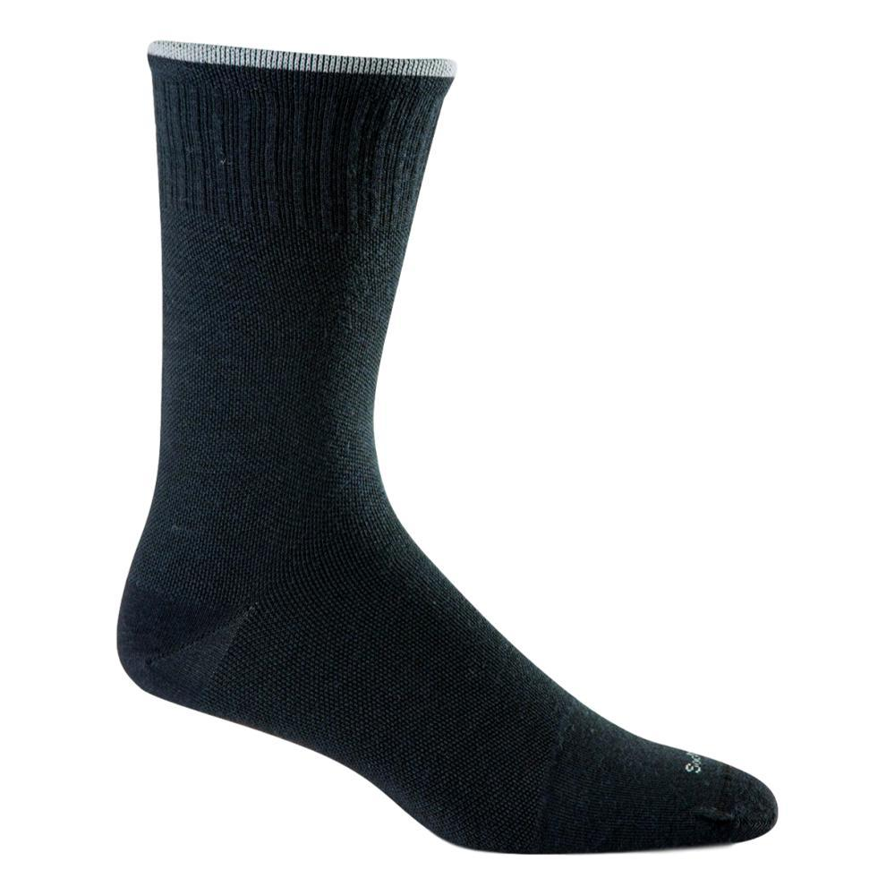 Sockwell Men's Plantar Ease Crew Firm Compression Socks BLACK_900