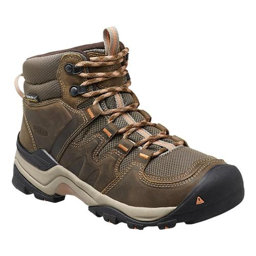 KEEN Women's Waterproof Gypsum II Hiking Boots Goldcoral