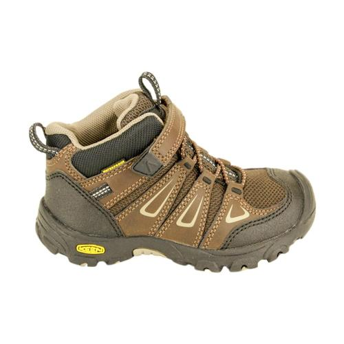 KEEN Little Kids Oakridge Waterproof Shoes Brn_brindle