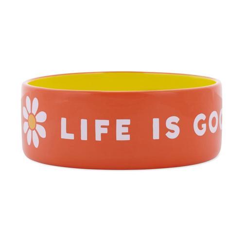 Life Is Good 38oz Ceramic Daisy Dog Bowl - Large Trp_org