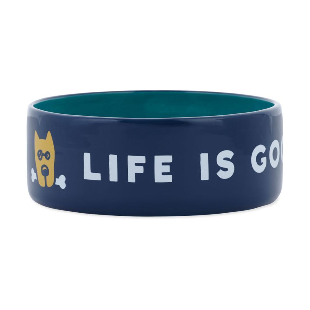 Life Is Good 13oz Ceramic Daisy Dog Bowl DST_BLU