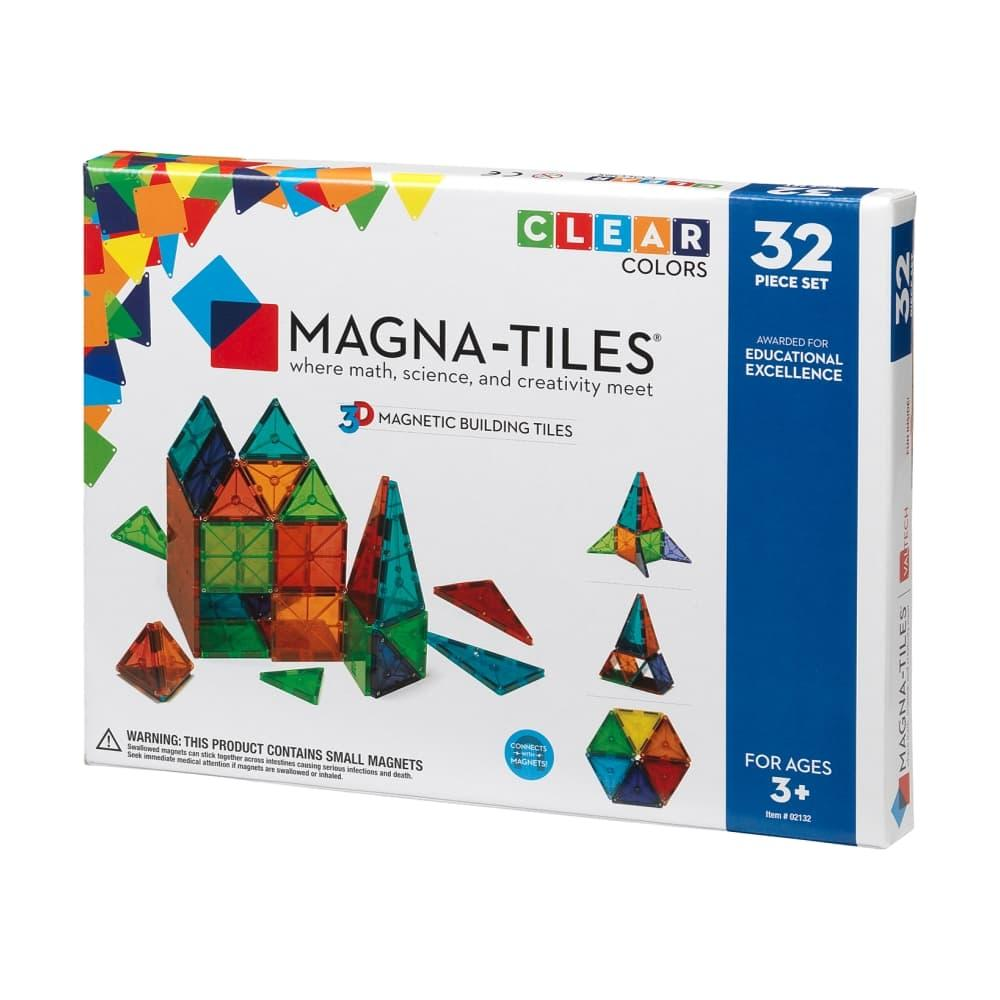 Magna- Tiles Clear Colors 32 Piece Set