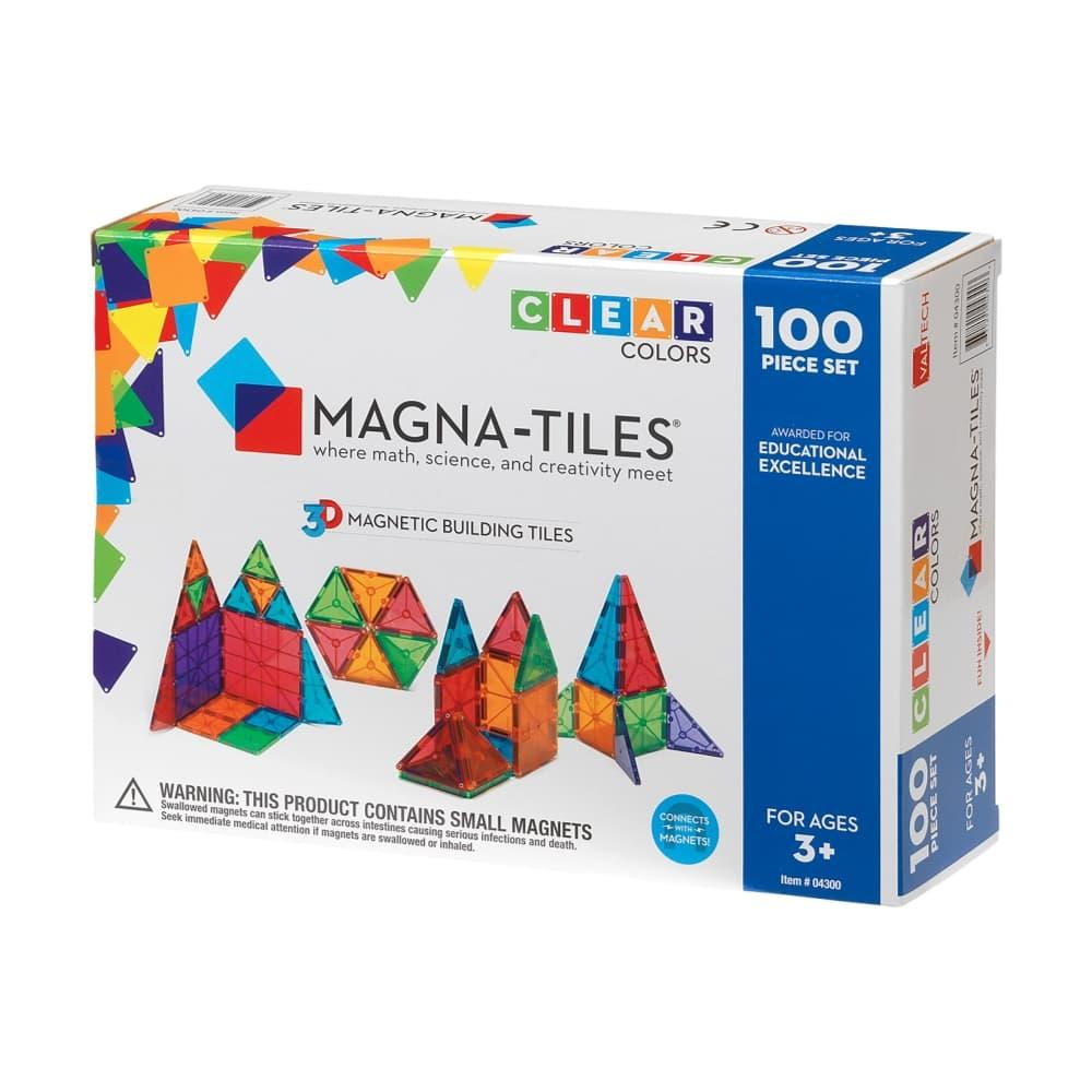 Magna- Tiles Clear Colors 100 Piece Set