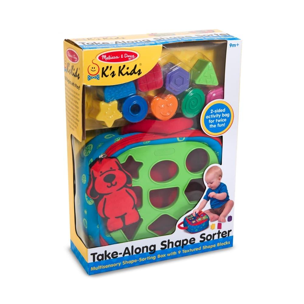 Melissa & Doug Take- Along Shape Sorter Baby And Toddler Toy