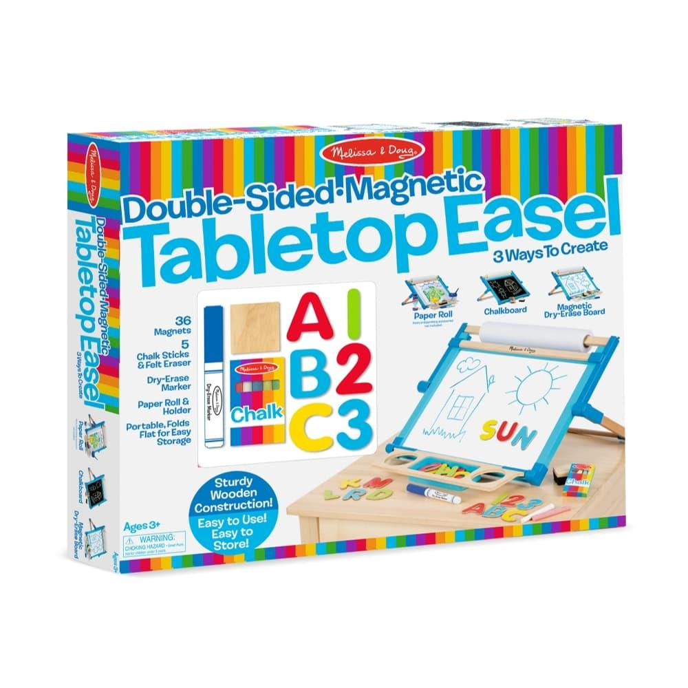 Melissa & Doug Deluxe Double- Sided Tabletop Easel
