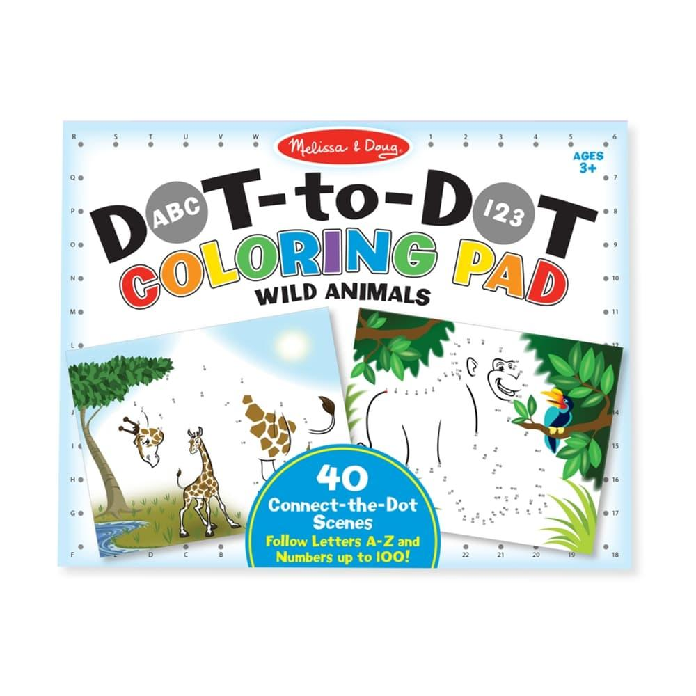 Melissa & Doug Abc 123 Dot- To- Dot Coloring Pad - Wild Animals