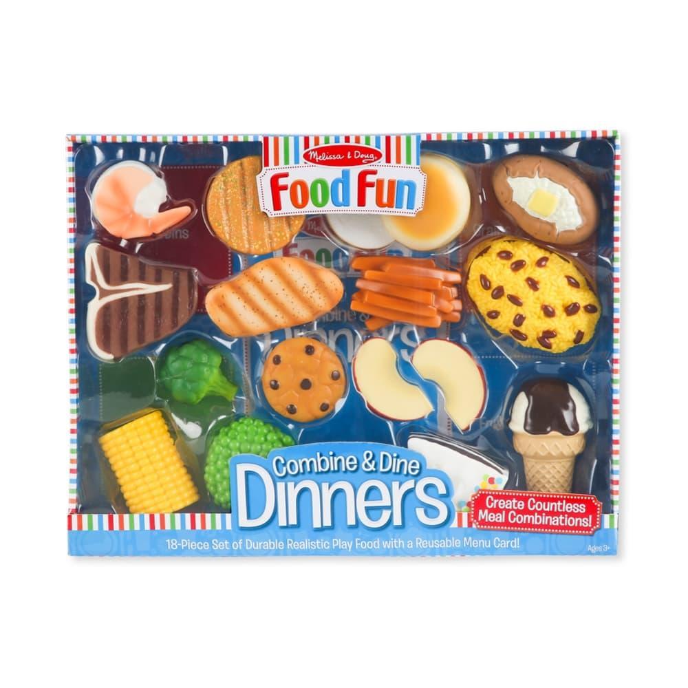 Melissa & Doug Combine And Dine Dinners - 18 Piece Set. BLUE