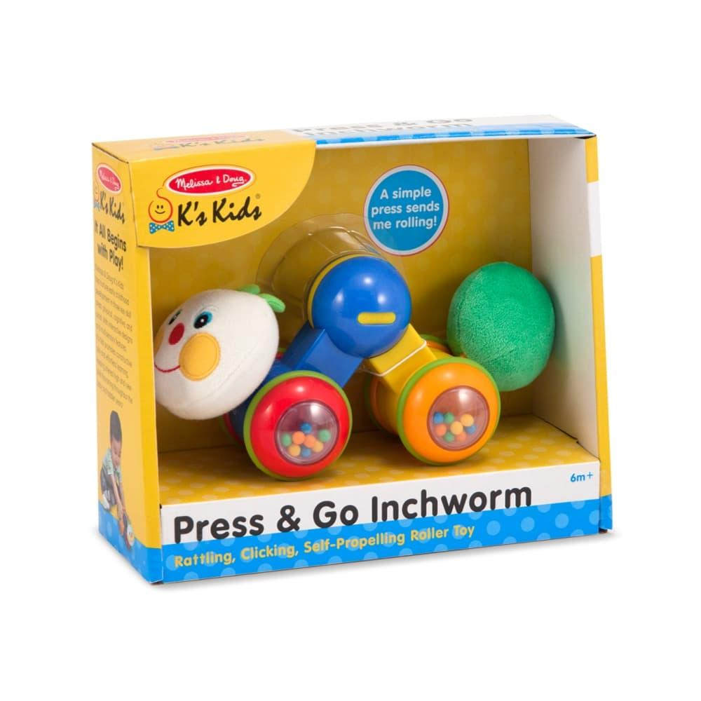 Melissa & Doug Press & Go Inchworm Baby And Toddler Toy
