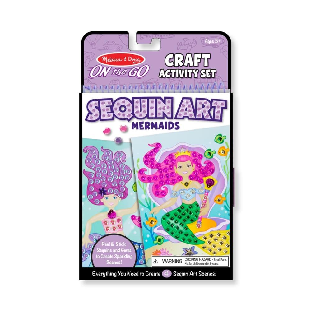 Melissa & Doug On- The- Go Crafts - Sequin Art - Mermaids