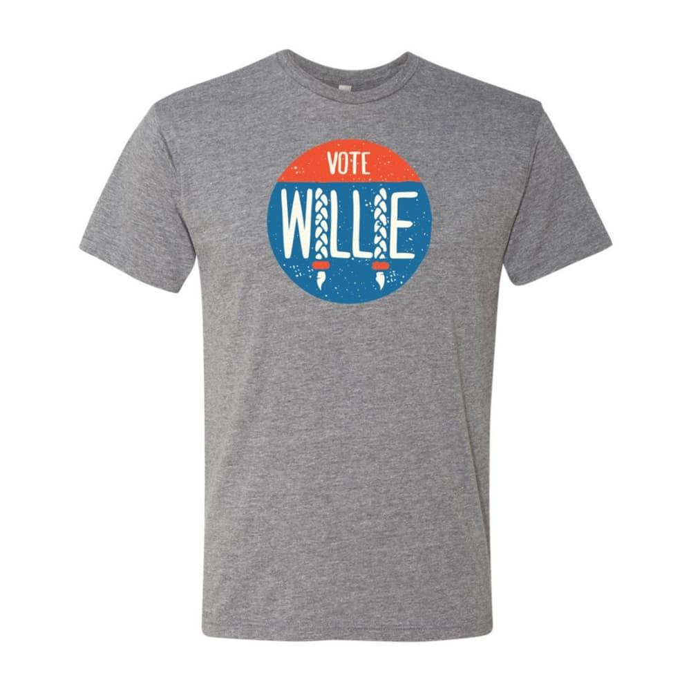 Outhouse Designs Unisex Vote Willie T-Shirt HEATHERGRY